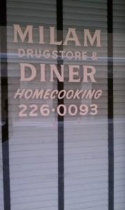 Milam Diner door